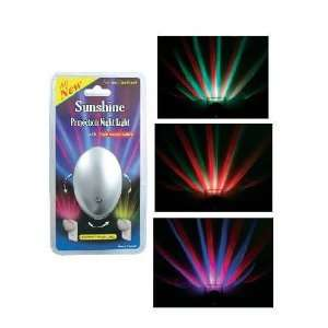 Color Changing LED Projection Night Light With Light