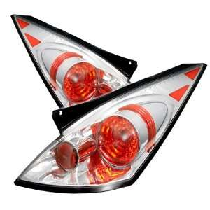 02 05 Nissan 350Z Euro Taillights   Chrome Automotive