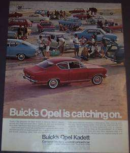 1967 BUICK OPEL KADETT SPORT COUPE WAGON SEDAN AD ART