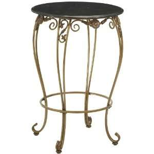 Allegra Chair height Pub Table Black Marble Antique
