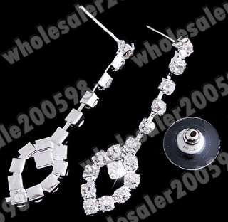 Wedding/Bridal Crystal Rhinestone Necklace+Earring 1set