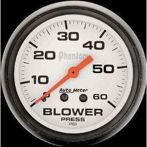 Auto Meter 5802 Phantom Mechanical Blower Pressure Gauge