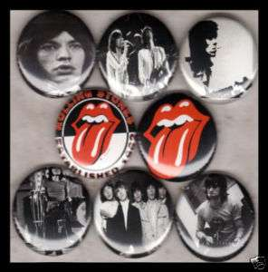 ROLLING STONES 1 buttons badges MICK JAGGER RICHARDS