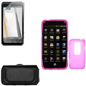 iNcido Brand HTC EVO 3D Combo Trans. Hot Pink Silicone