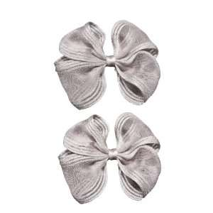 Little Miss Purple Fancy Shiny Bow Hair Clips for Kid Girls and Baby