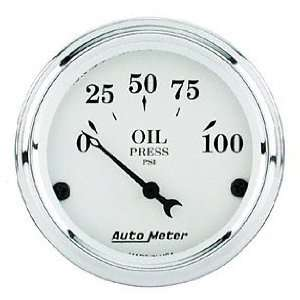 Auto Meter 1628 Old Tyme White Short Sweep Electric Oil