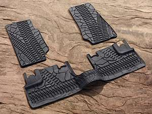 2007 2012 JEEP WRANGLER 4 DOOR ALL WEATHER SLUSH RUBBER FLOOR MATS