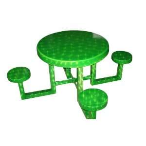 Tables 335A0017 30 Inch Round Aluminum Kids Picnic Table, Lime Patio