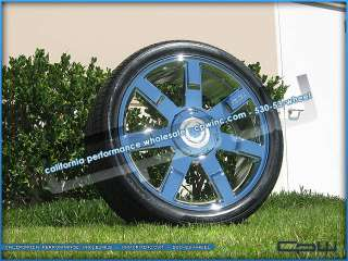 CADILLAC ESCALADE 24 INCH CHROME WHEELS RIMS PACKAGE