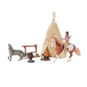 Breyer Horses Stablemates Spirit Family Play Set with Rain
