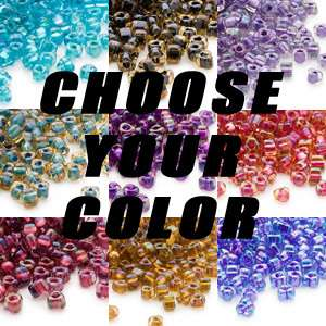 315 Miyuki Two Tone Color Lined #5 Triangle Seed Beads