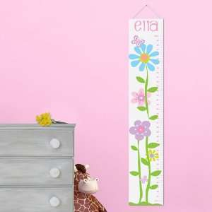 Height Chart Personalized Butterflies and Blooms Height Chart Home