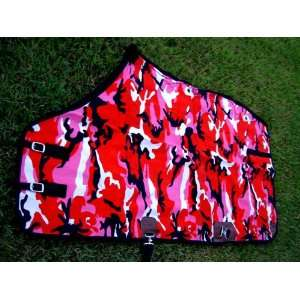 CANVAS TURNOUT HORSE DUCK WINTER BLANKET RED PINK CAMEO