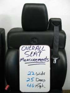 FORD F 150 F150 HARLEY DAVIDSON OEM LEATHER SEATS 2004 2005 2006 2007