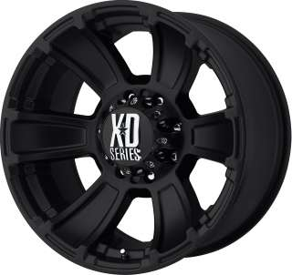 20 XD SERIES REVOLER MT BLACK WHEELS RIMS 8X6.5  24MM