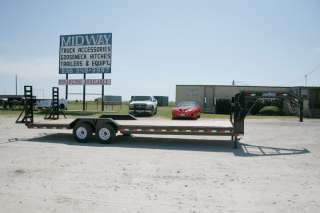 26 x 102 Gooseneck Carhauler Equipment Trailer w/ 7K Axles