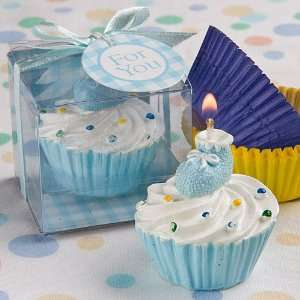 Wedding Favors Blue cupcake design candle favors Health