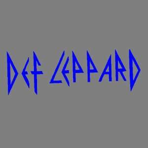 DEF LEPPARD (BLUE) DECAL STICKER WINDOW CAR TRUCK TRAILER