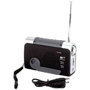 Mitaki Japan® Wind Up FM/Weather Radio/LED Flashlight
