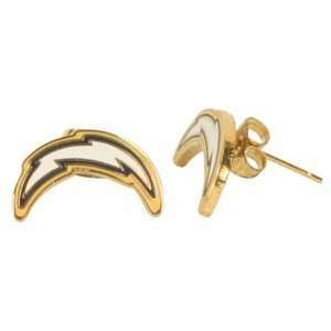 San Diego Chargers NFL Gold Tone Stud Earrings Sports