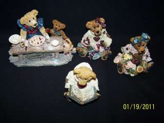 BOYDS BEARS JUSTINA WILLIAM BAILEY HEART LOVE POEM PIE