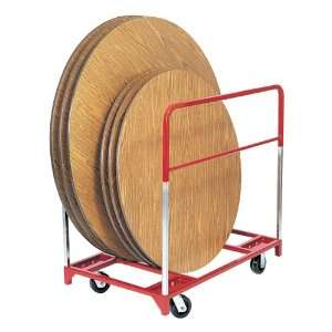 Round Folding Table Mover with 6 Casters Two Fixed and
