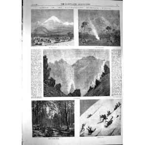 1867 Ascent Popacatapetl Mountain Mexico Crater Fire