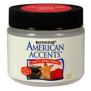Rust Oleum 209631 American Accents Craft And Hobby Paint Jar, Colonial