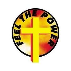 TM Bishop   Feel The Power Holy Cross   Sticker / Decal