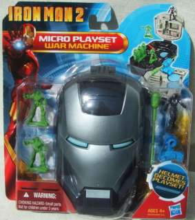 IRON MAN MICRO PLAYSET IN WAR MACHINE HELMET AGE 4+