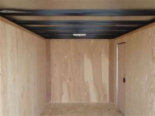 Enclosed Cargo Utility Trailer 7` x 16` Ramp Door 6.5 inside height