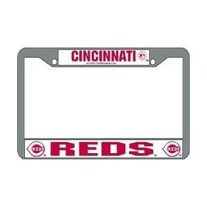 Cincinnati Reds MLB Chrome License Plate Frame Automotive