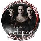 Twilight ECLIPSE Round Edible CAKE Image Icing Topper