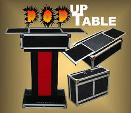 PERFORMERS CASE TO TABLE Magicians Magic Trick Stand Prop Trunk Stage