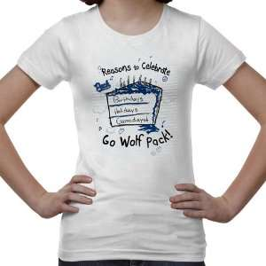 Nevada Wolf Pack Youth Celebrate T Shirt   White Sports