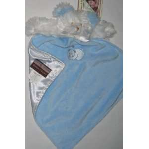 Blue White Bear Baby Security Blanket Lovey Nunu