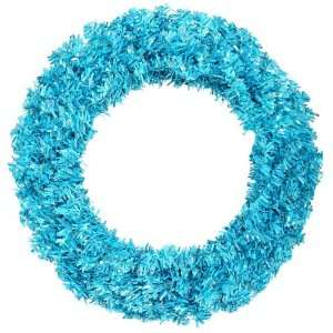 48 Pre Lit Sky Blue Wide Cut Tinsel Artificial Christmas