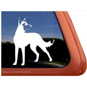 Belgian Malinois Dog Vinyl Window Auto Decal Sticker