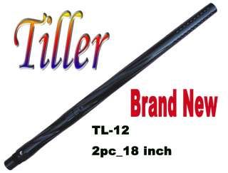 TL 12 Paintball Sniper Barrel 2pc_18 wBlack   Spyder