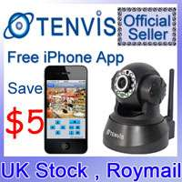 Official Tenvis Wireless WIFI IP Network Security CCTV Camera Mini