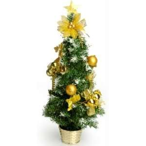 Home 2 ft. Decorated Christmas Tree   Gold Star
