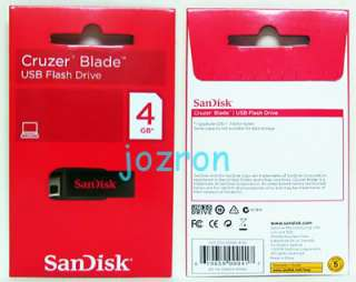SanDisk Cruzer Blade 4GB 4G USB Flash Pen Drive Disk NW