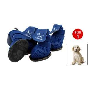 Blue Protective Boots Booties Puppy Pet Dog Shoes Size 1
