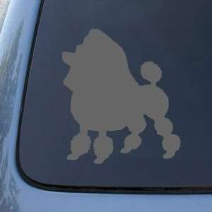 TOY POODLE   Dog   Vinyl Car Decal Sticker #1565  Vinyl Color Silver