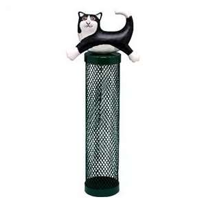 Bobbo Inc Bird Feeder Tube Cat Leaping Black / White
