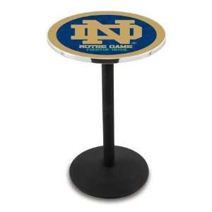36 Notre Dame Logo Counter Height Pub Table   Round Base