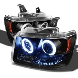 2500 / Chevy Tahoe / Avalanche Ccfl LED Headlights   Black Automotive