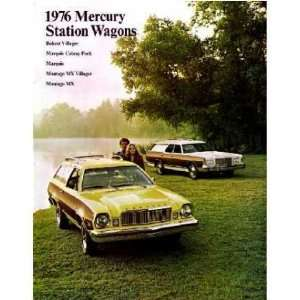 1976 MERCURY STATION WAGON Sales Brochure Book Automotive