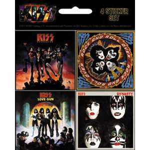 KISS 4 MINI ALBUM STICKER SET Toys & Games