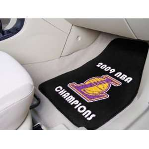 Fanmats Los Angeles Lakers 2009 NBA Finals Champions Car mat 2 piece